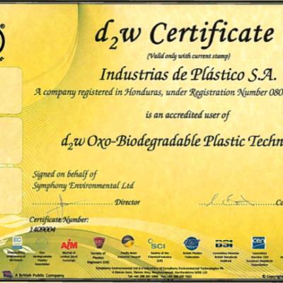 Certificado-D2W-OXO-Biodegradable