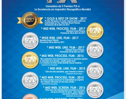INPLASA: Ganadores del GOLD Y BEST SHOW FTA-2017